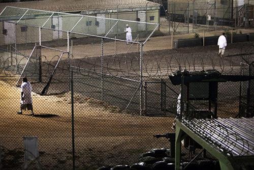 Foto van de gevangenis in Gauntanamo Bay